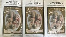 "3 GUNTHER BEARS Teddy Bear KITS~Papa+Mama+Baby~The Toy Works~Complete/NOS~7""-12"""