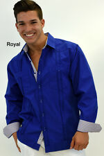 Mens Bohio Cotton Royal Cuban Guayabera (2) Pocket L/S Shirt (S ~XL)- MTCG1515