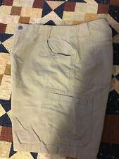 WHITE SIERRA Mens Cargo Shorts Size 34 Cotton KHAKI Outdoor Hiking Cotton Casual