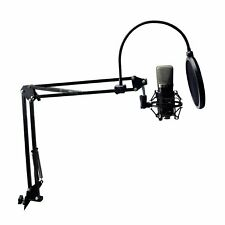 Professional Studio Broadcasting Recording Kit Microphone+Pop Filter+Holder
