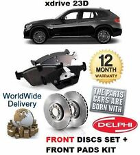 FOR BMW X1 xDRIVE 23d 2.0TD 2009-  NEW FRONT BRAKE DISCS SET AND DISC PADS KIT
