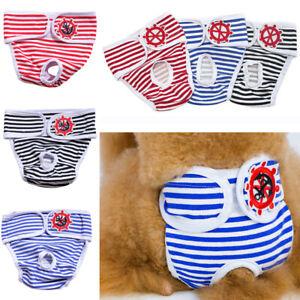 Female Waterproof Pet Puppy Dog Nappy Diapers Shorts Season Sanitary Undies S-XL