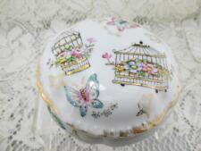 Vintage Trinket Powder Box~Butterflies~Linwille China~Ardalt Japan