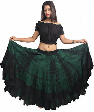 New TMS 25 Yard  Skirt Belly Dance Gypsy Costume Troup Tribal Club Colorful