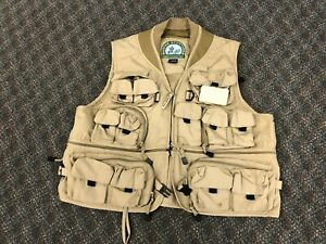 FLY FISHING VEST Mens Large MASTER SPORTSMAN RUGGED OUTDOOR GEAR utility safari