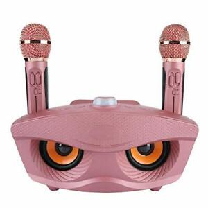 ASHATA Karaoke Microphone,Karaoke Machine,Wireless Bluetooth Karaoke Speaker