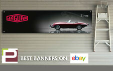 JAGUAR E-Type banner per Officina, Garage, showroom, Man Grotta, v12, COUPE