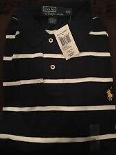 Polo Ralph Lauren Mesh Short Sleeve Navy w/ White Horizontal Stripe Size XXL NWT