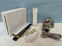 Nintendo Wii White Console RVL-001 w/Accessories & GameCube Compatible - Tested