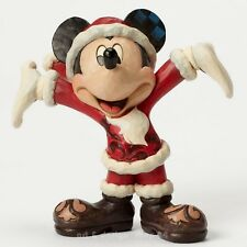 "Disney SCULPTURE - "" Mickey Mouse - Noël Cheer "" JIM SHORE Figurine 4046016 NEUF"