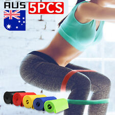 5 Sets Resistance Bands Loop Leg Arm Ankles Knees Or Wrists Gym Fitness Exercise