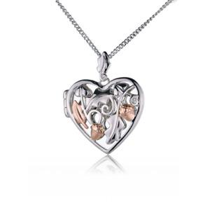 Clogau Silver Pendant 22'' Chain Royal Oak Acorn Heart Locket Welsh Rose Gold XX