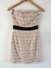 H&M Strapless Dress Euro 36 Mocha Lace Layered <R12720