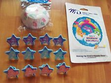 3pc Lot Care Bears Bakery Craft M&D Birthday Party Goods Multi-color  NOS