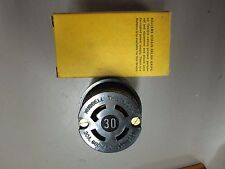 Hubbell 3433G Twist Lock Connector 30Amp 250Volt AC or DC, 30Amp 600Volt AC