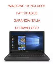 """NOTEBOOK HP 15.6"""" 250 G7 RAM 4GB SSD 256GB WIN10PRO 7DB74EA GARANZIA ITALIA"""