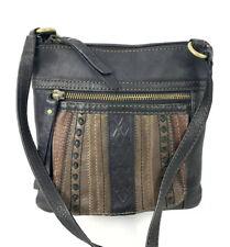 Fossil Crossbody Bag Patchwork Black Brown Shoulder Bag Purse
