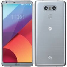 LG G6 H871 AT&T +GSM UNLOCKED SILVER PLATINUM 4G LTE 32GB 13MP SMARTPHONE USED