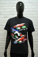 Maglia Uomo DELTA Taglia Size L XL Cotone Shirt Camicia Maglietta Man Nero