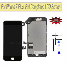 "Black LCD Touch Screen Lens Digitizer For iPhone 7 Plus 5.5"" + Camera Assmebly"