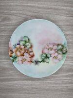 Vintage Thomas Sevres Bavaria Hand Painted Floral Decorative Porcelain Plate