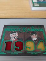 2019-20 Leaf Ultimate HOCKEY ALMANAC QUAD #/5 Martin Brodeur & Dominik Hasek
