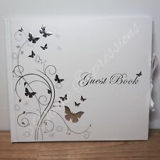 Butterfly Guest Book Birthday Christening Baby Shower Wedding Engagement