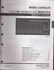 Yamaha Mixing Consoles Mc2410M/Mc3210M Service Manual Schematics Parts List