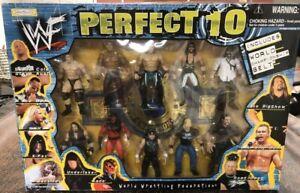 WWE Jakks Perfect 10 Figure Set Kane Mankind Road Dogg Billy Gunn WWF World Belt