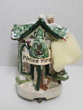 Blue Sky Clayworks Welcome Home Tea Light Holder Cottage Cat Hook 2001 Goldminc