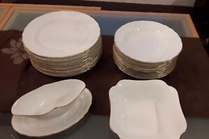 Villeroy & Boch Heinrich Louisenburg Gold  Speiseservice 12 Personen  bone china