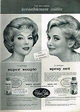J- Publicité Advertising 1960 Laque pour cheveux Helene Curtis
