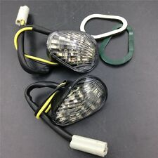 CLEAR LED TURN SIGNALS FLUSH MOUNT INDICATORS FOR  YAMAHA YZF R1 R6 R6S