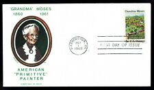 US 1370 Grandma Moses Artist May 1, 1969 Jackson First Day Cover F1370-1
