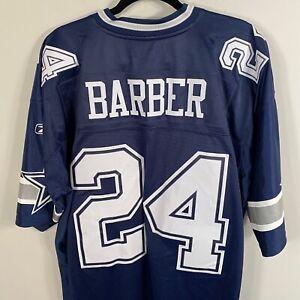 Authentic Dallas Cowboys #24 Marion Barber Jersey Reebok Navy White sz M L XL