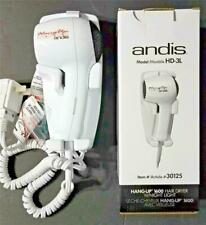 Andis HD-3L Hang Up 1600 watt Wall Mount Hair Dryer w/ Night Light #30125
