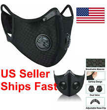 Air Purifying Cycling Protective Mask Face Mouth Cover with PM 2.5 Filter Valves