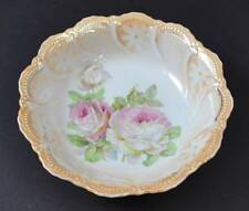 Vintage Leuchtenburg Germany Serving Bowl Pink Rose Flower Transferware 9 1/8""
