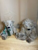 TWO Vtg. Hermann Spielwaren Mohair Bears Jointed Artist Biggi Netzel Numbered