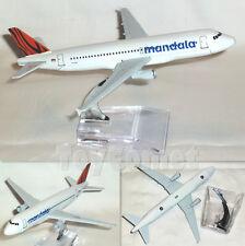 Tigerair Mandala Airlines Airbus A320 Airplane 16cm DieCast Plane Model