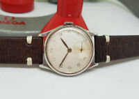 VINTAGE 1950 OMEGA SILVER DIAL MANUAL WIND CAL:265 MAN'S WATCH
