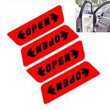 4 Pcs/Set Door Open Car Stickers Reflective Warning Pedestrians Safety Red ATAU