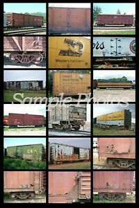 """""""No Frills Prototype Photo CD Guide to Box Cars & Reefers Over 600 Images!"""