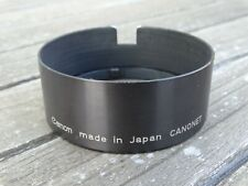Genuine Canon Canonet Metal Lens Hood - 58mm push on type for earlier models