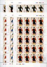 China prc 2008-3 jing roles pekín opera ópera música 3936-41 arcos frase mnh