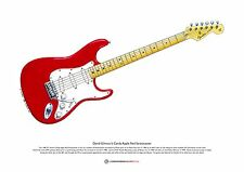 David Gilmour's Candy Apple Red Stratocaster ART POSTER A3 size