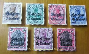EBS Germany 1914 - World War I - Occupied Belgium - Michel 1-6 Used (895