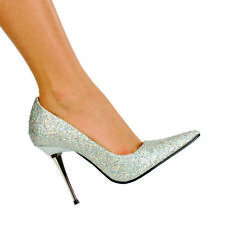 SZ 6 1/2 - GLITZEE, 4'' Woven Glitter Pump Stiletto Womens High Heels Shoes