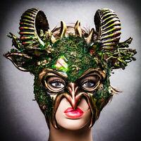 Masquerade Mask New Steampunk Gold Evil Genius Scientist Halloween Costume