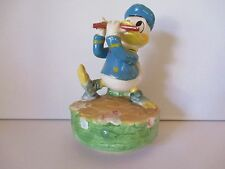 """DISNEY'S DONALD DUCK- SCHMID MUSIC BOX - """"WHISTLE WHILE YOU WORK"""" - FREE SHPG"""